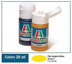 Italeri 4721 FLAT INSIGNIA YELLOW 20ml