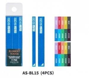 DSPIAE AS-BL15 ALUMINUM ALLOY SND BOARD BLUE 4PCS / Aluminiowa podkładka do papierów ściernych