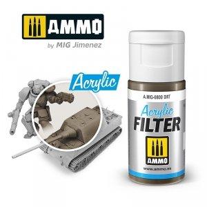Ammo of Mig 0800 ACRYLIC FILTER Dirt 15 ml
