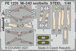 Eduard FE1220 Mi-24D seatbelts STEEL EDUARD / ZVEZDA 1/48