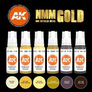 AK Interactive AK 11606 NMM (Non Metallic Metal) GOLD Set 6x17 ml