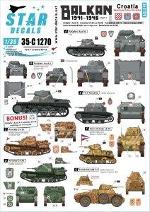 Star Decals 35-C1270 Balkan WW2 # 1 1/35