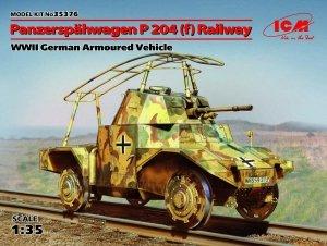 ICM 35376 Panzerspahwagen P 204 (f) Railway, WWII German Armoured Vehicle (1:35)