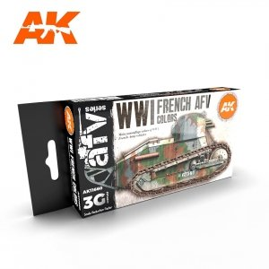 AK Interactive AK 11660 WWI FRENCH AFV COLORS 6x17 ml