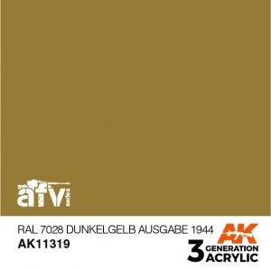 AK-Interactive AK 11319 RAL 7028 Dunkelgelb Ausgabe 1944 17ml