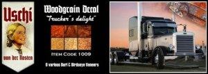 Uschi 1009 Trucker's delight Interior Wood Grain Decals