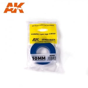 AK Interactive AK 9185 MASKING TAPE FOR CURVES 10MM