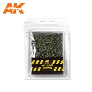 AK Interactive AK 8163 OAK SUMMER LEAVES 75MM / 90MM  1/32 1/35