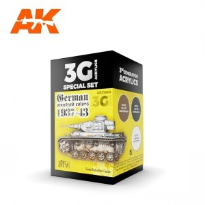AK Interactive AK 11645 GERMAN STANDARD COLORS 1937-1943  3x17ml