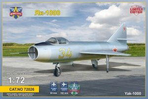 Modelsvit 72026 Yak-1000 Supersonic demonstrator 1/72
