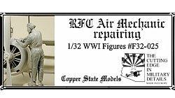 Copper State Models F32-025 RFC Air Mechanic repairing 1:32