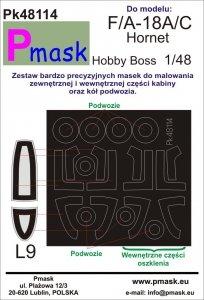 P-Mask PK48114 F/A-18A/C Hornet Hobby Boss 1:48