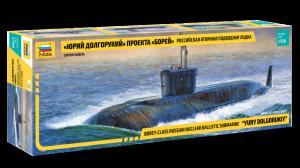 Zvezda 9061 Borey-Class Russian Nuclear Ballistic Submarine Yury Dolgorukiy 1/350