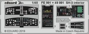 Eduard FE991 SH-3 interior 1/48 HASEGAWA