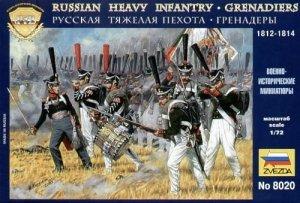 Zvezda 8020 Russian grenadiers 1812-1814 1/72