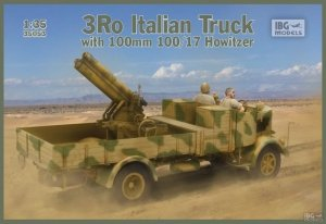 IBG 35053 3Ro Italian Truck with 100 mm 100/17 Howitzer 1/35