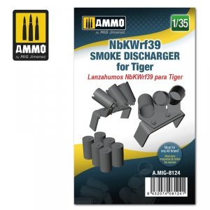 Ammo of Mig 8124 NbKWrf39 Smoke Discharged for Tiger 1/35