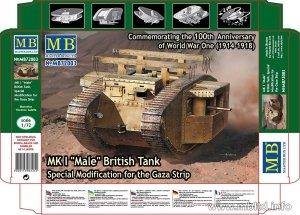 MASTER BOX 72003 MK I Male British Tank Special Modification for the Gaza Strip (1:72)