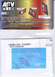 AFV Club AC35017 Sticker for simulating Anti Reflection Coating Lens, M1A1 AIM/M1A2 SEP (1:35)