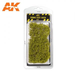 AK Interactive AK 8171 SPRING LIGHT GREEN SHRUBBERIES 75MM / 90MM 1/35
