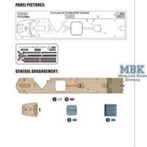 Wood Hunter W70184 IJN tender Taigei Wooden deck (Aoshima 05183) 1/700