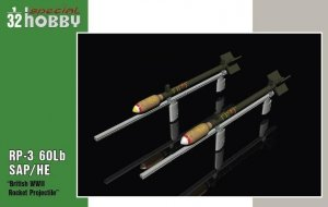 Special Hobby 32075 RP-3 60Lb SAP British WWII Rockets 1/32