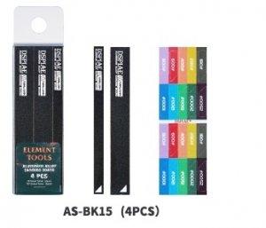 DSPIAE AS-BK15 ALUMINUM ALLOY SND BOARD BLACK 4PCS / Aluminiowa podkładka do papierów ściernych