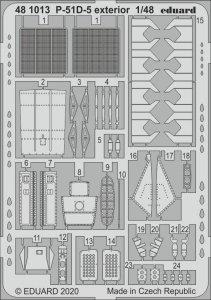 Eduard 481013 P-51D-5 exterior for AIRFIX 1/48