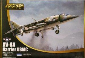 Kinetic K48072 AV-8A Harrier USMC 1/48