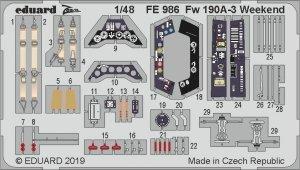 Eduard FE986 Fw 190A-3 Weekend 1/48 EDUARD