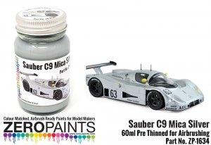 Zero Paints ZP-1634 Silver Mica Paint for Sauber C9 Le Mans 1989 60ml