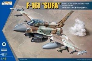 Kinetic K48085 F-16I Sufa with IDF Weapons 1/48