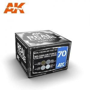 AK Interactive RCS070 BELGIAN AIR FORCE COLORS 1990S-2000S SET 4x10ml