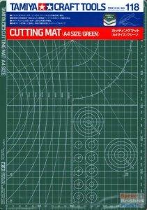 Tamiya 74118 Cutting Mat (A4 Size/Green)