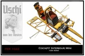 Uschi 1022 Wood Grain Decal Cockpit Interiour Mini