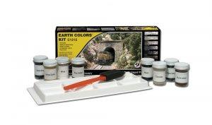 Woodland Scenics WC1215 Earth Colour Kit zestaw pigmentów