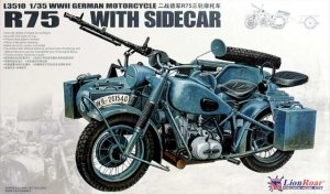 Great Wall Hobby L3510 WWII German BMW R75 with Sidecar 1/35