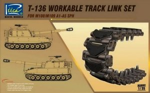 Riich Models RE30002 T-136 workable track link set for M108/M109 A1-A5 SPH 1:35