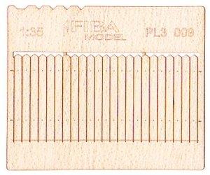 Model scene PL3-009 Wooden fence type 9 Drewniany płot 1/35