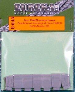 EUREKA XXL E-043 2 cm FlaK38 ammo boxes and magazines 1:35