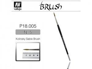 Vallejo Brush P18005 Kolinsky Sable Brush No.5