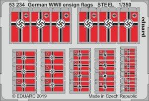 Eduard 53234 German WWII ensign flags STEEL 1/350