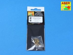 Aber 16103 Turned imitation of Hexagonal bolts 1,55mm x 30pcs. (1:16)