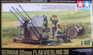 Tamiya 32554 German 20mm Flakvierling 38 (1:48)