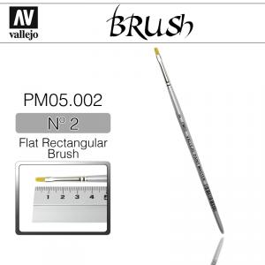 Vallejo PM05002 Brush Flat Rectangular Brush n2