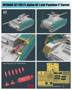 Rye Field Model 2011 Pz.Kpfw.IV J mit Panther F Turret UPGRADE SOLUTION SERIES 1/35
