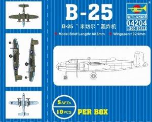 Trumpeter 04204 B-25 Mitchell Bomber 1/200