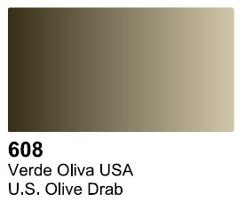Vallejo 70608 Surface US Olive Drab 17ml.