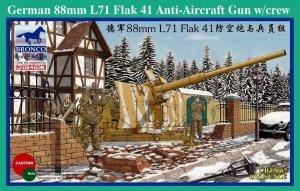 Bronco CB35067 German 88mm L71 Flak 41 Anti-Aircraft Gun w/Crew (1:35)