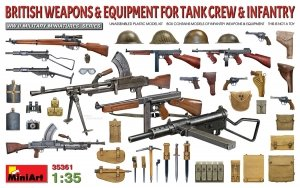 MiniArt 35361 BRITISH WEAPONS & EQUIPMENT FOR TANK CREW & INFANTRY 1/35
